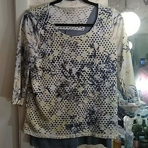 Live and Let Live lattice blouse w lining